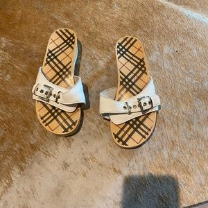 Authentic burberry mules